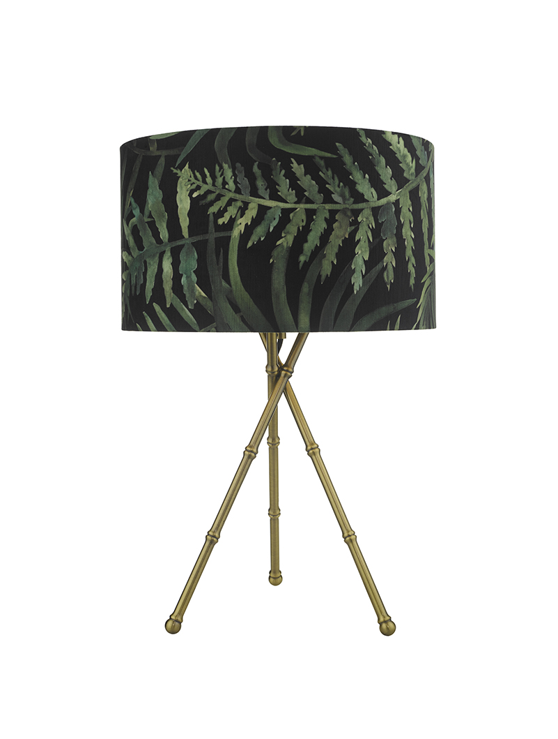 Picture of: Bamboo Antique Brass Table Lamp With Shade Amos Lighting Home