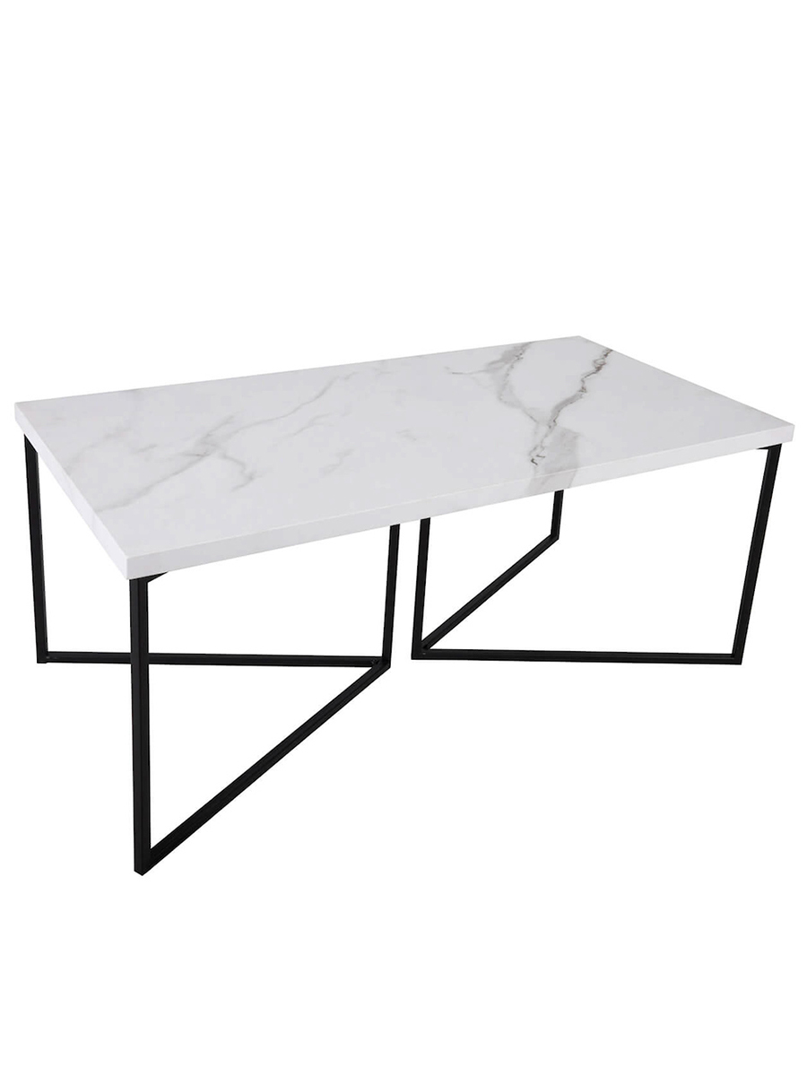 Fotini White Marble Coffee Table Amos Lighting Home