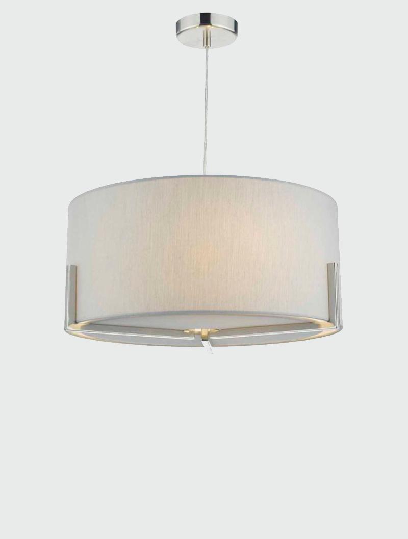 Santino Satin Chrome Amp Grey Pendant Amos Lighting Home
