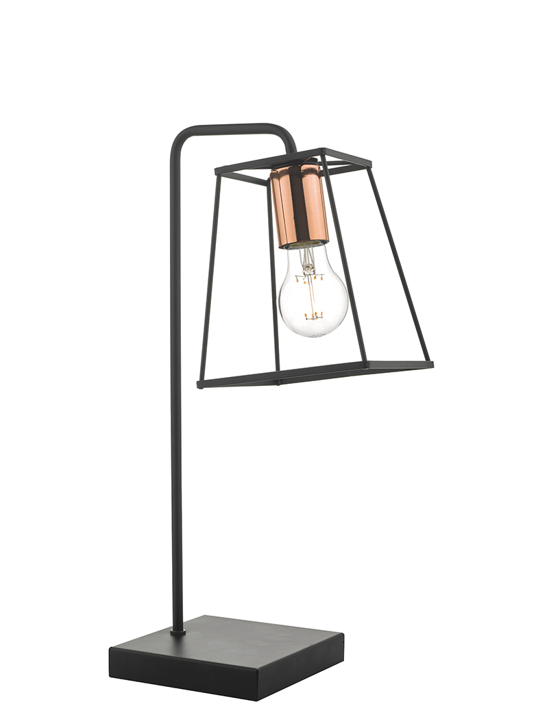 Tower Black Copper Table Lamp