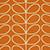 Linear Stem Orange and Cream