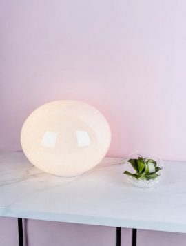 Arcus Table Lamp White & Glass