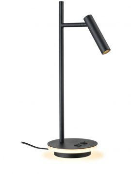 Franklite Illuminated Base LED Desk Lamp- Black