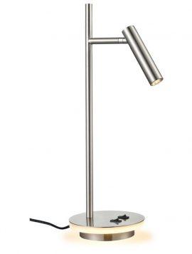 Franklite Illuminated Base LED Desk Lamp- Nickel