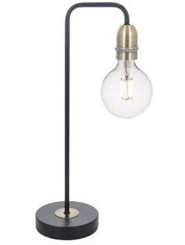 Kiefer Table Lamp Black & Antique Brass
